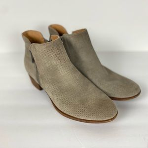 Lucky Brand Rayley suede perforated Ankle Bootie Size 8